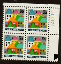 Scott 2245 22¢ Greetings Plate block of 4 MNH Free Shipping!!!
