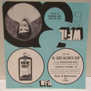 WFIL Top 30 Chart , 1973 with Dr Shock Halloween Show ad, Philly horror host