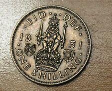 1951 Great Britain 1 Shilling Scottish Crest