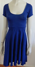 Metalicus royal blue stretch dress with bias cut skirt size 8 - 14 (one size)
