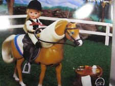 "Barbie ""Barbie Riding Club"" Kelly & Baby Pony Horse With Bendable Neck 1998 NIB"