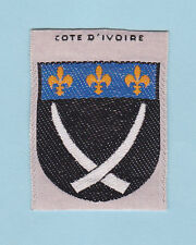 SCOUT OF FRANCE -  FORMER FRENCH COLONIES COTE D'IVOIRE SCOUTS Patch ~ SCARE