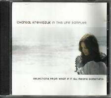 CHANTAL KREVIAZUK In this Life SAMPLER PROMO Radio DJ CD Single Selections from