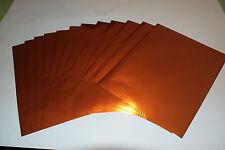 Copper Heat Laser Foil - 8.5X11 Sheets - 1 dz/packet!