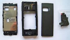 Black cover case faceplate fascia facia housing faceplate for Nokia X6  on sales