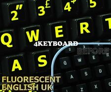 Glowing fluorescent English UK (LL) keyboard stickers