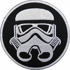 STAR WAR PATCH STORM TROOPER HELMET MASK Embroidered Iron Sew On Patch Dress bad