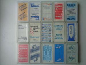 """15x Schafkopf/Tarock/Skat/Spielkarten mit """"verschiedene Werbung"""""""