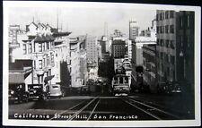 SAN FRANCISCO CA ~ 1940's CALIFORNIA STREET HILL ~ Food Shop Market~ RPPC