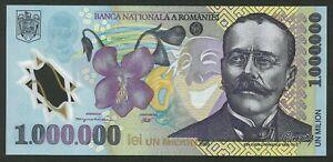 ROMANIA 1000000 1,000,000 Lei 2003 P-116 Polymer Z serial UNC