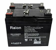 Raion 2 Pack 12V 35Ah Deep Cycle AGM Solar Battery Also Replaces 33Ah 34Ah 35Ah