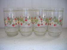 "Corning Ware Corelle Strawberry Sundae Glass Tumblers 5"""