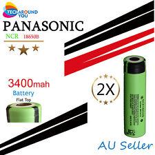 2x Panasonic NCR18650B 3400mAh Lithium Li-Ion Rechargeable battery flashlight