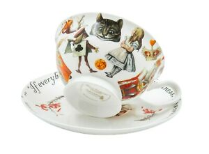 Alice & Queen Of Hearts Tea Cup & Saucer Set / Fine China / 210 ml (7 fl oz)