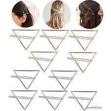 10pack Minimalist Dainty Hollow Triangle Geometric Metal Hairpin Hair Clip New