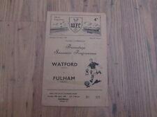 Fulham Football Reserve Fixture Programmes (1950s)