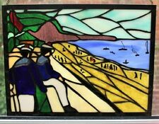 ALBERT MARQUET The Beach at Fécamp Stained Glass Window Genuine Handmade