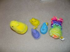 Peeps Plush Group of 5 Easter Items,  Chicks & Bunny