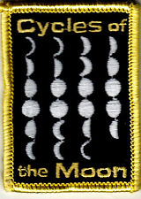 """""""CYCLES OF THE MOON PATCH - IRON ON PATCH - Astrology - Planet - Stars -  Moon"""