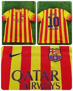 Barcelona 2013/2014 Messi 10 XL Away Football Shirt Nike Retro Authentic