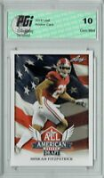 Minkah Fitzpatrick 2018 Leaf Draft #AA-10 All American Rookie Card PGI 10
