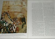 1953 magazine article Carlsbad Caverns, color photographs