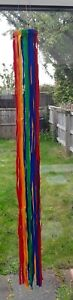 Hanging Fabric Rainbow Wind Spinner Twister Garden Colourful Fun