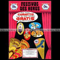 Glaces OLA 'Festival des héros' CORNETTO Asterix 1972 Pub / Publicité / Ad #A878
