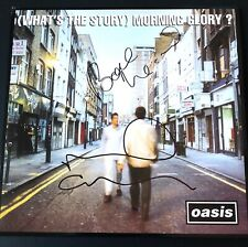 SIGNED OASIS NOEL GALLAGHER BONEHEAD WHATS THE STORY MORNING GLORY VINYL RARE