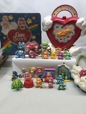 Large Lot Of Vintage Pvc Care Bears And Cousins 2 Cases And Accessories