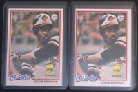 EDDIE MURRAY 1978 TOPPS (2) VINTAGE BASEBALL ROOKIE CARD LOT #36 - ORIOLES
