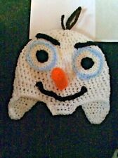 🌈👶👶 HAND MADE CROCHETED BABY OLAF HAT BEANIE 3-6  MONTHS 👶👶🌈