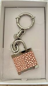 Michael  Kors XL Lock Charm Key Ring New With Tags