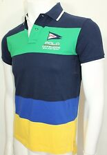Polo Ralph Lauren Custom-Fit Color blocked Mesh Polo XXLarge French Navy NWT