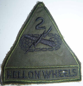 Hell on Wheels - TANK CREW - Patch - US 2nd ARMORED DIV - Vietnam War - 6256