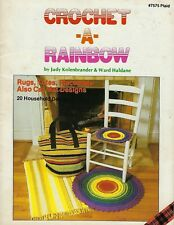 Crochet a Rainbow Using Macrame Knitted Cord Rug & Tote Patterns Craft Book 7575