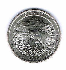 2011-P Brilliant Uncirculated Glacier National Park Quarter Coin!