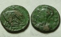 Constantine I 337AD ancient Roman coin VRBS ROMA she wolf Marked Romulus Remus