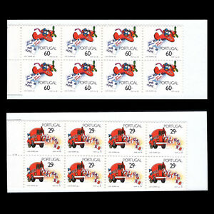 Portugal 1989 - Stamps Postal Service Aviation Trucks - Sc 1772a/73a MNH