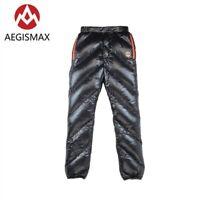 AEGISMAX Outdoor Warm Goose Down Pants Ultralight Camping Trouser Men Women H6F2