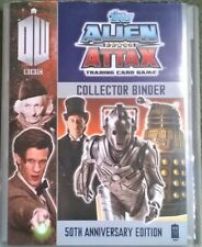 Topps Dr Who Alien Attax 50th Anniversary Binder with approx 120 Trading Cards