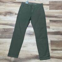 Levi's XX Chino Standard Taper Green Levis Mens Pants 30 X 30