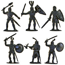 Timpo Recast 6 Black Knights - 54mm unpainted plastic models - 1990s