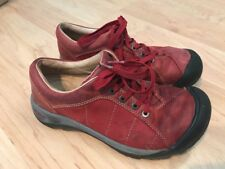 Keen Red Leather Athletic Comfort Walking Shoes Womens Size 6