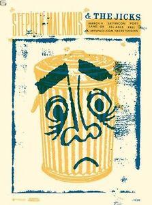 Stephen Malkmus & The Jicks Gig Poster, Portland 2008 (Silkscreen) 18 x 24 Print