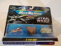 Star Wars Micromachines II 65860 Galoob 1995 Landspeeder Jawa Sandcrawler Falcon