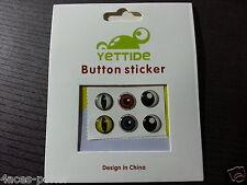 6 Stück Handy Button Augen Sticker Home Button Iphone 3/ 4 /4S/ 5 /5S/6 Sticker