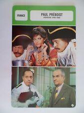 CARTE FICHE CINEMA  PAUL PREBOIST PERIODE 1948-1969