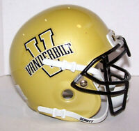 VANDERBILT COMMODORES NCAA COLLEGE FOOTBALL SCHUTT AIR THROWBACK MINI HELMET
