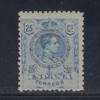 ESPAÑA (1909/22) NUEVO SIN FIJASELLOS MNH - EDIFIL 274(25 cts) ALFONSO XIII